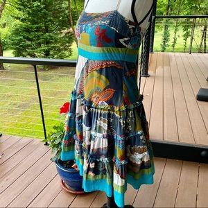 Vintage Summer Dress 🌺 'Ulook Mirror' SO unique !